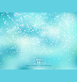 winter blue background with snow on christmas vector image vector image