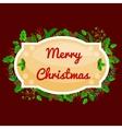 Winter greeting card Christmas holiday banner vector image vector image
