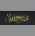word summer in style calligraphy or doodle from vector image vector image