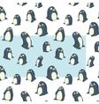 penguins transparent pattern vector image