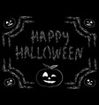 congratulation happy halloween inscription vector image