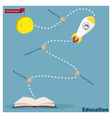Education is superpower to success 2 vector image