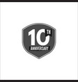 10th anniversary badge sign and emblem in vector image vector image