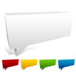 3d blank speech talk bubbles vector image