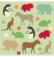 abstract natural animal vector image vector image