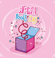 april fools day celebration box vector image
