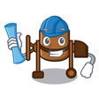 architect concrete mixer character cartoon vector image