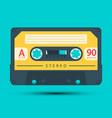audio cassette retro analogue object symbol vector image