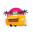 bar trailer outdoor beach truck beach bar vector image vector image