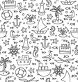 black and white sea pattern vector image