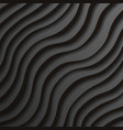 black paper waves 3d realistic template design vector image vector image