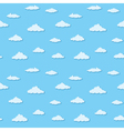 Blue sky clouds pattern vector | Price: 1 Credit (USD $1)