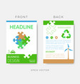 brochure eco design template with puzzle vector image vector image