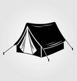 camping tent icon isolated on white background vector image