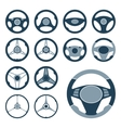Car Steering Wheel Icons Set vector image vector image