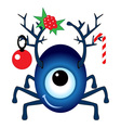 Cartoon Christmas Cyclops vector image vector image