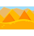 Cartoon Landscape of Desert Pyramids for Game vector image vector image
