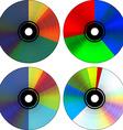 CD pie diagram vector image