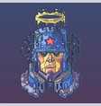 character face in futuristic virtual style cyber vector image vector image