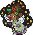 Christmas angel cartoon vector image vector image