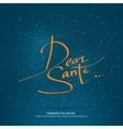 Christmas handwritten lettering vector image vector image
