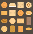 collection of biscuit in flat design vector image