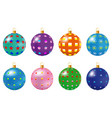 colorful christmas balls set of isolated vector image vector image