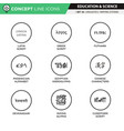 concept line icons set 18 linguistics vector image