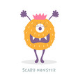 cute halloween monster character vector image vector image