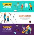 dentistry horizontal banner vector image