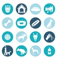 Dog icons white vector image vector image