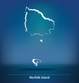 Doodle Map of Norfolk Island vector image