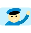 Driver man cute cartoon character vector image vector image