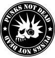 emblem punk not dead vector image vector image