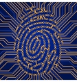 Fingerprint Identification System vector image vector image
