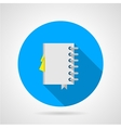 Flat icon for office notebook vector image vector image