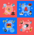 flat theatre icons infographic concept vector image vector image