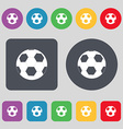Football icon sign A set of 12 colored buttons vector image vector image