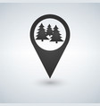 forest location icon isolated vector image vector image