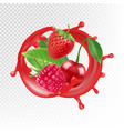 garden and wild berries realistic juice vector image vector image