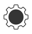 gray setting icon setting icon on light gray vector image vector image