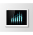 growth chart on Tablet Screen vector image vector image