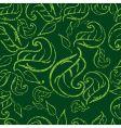 grunge leaf background vector image vector image