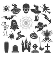 Halloween black icons vector image vector image
