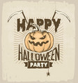 halloween party colored vector image vector image