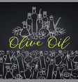 hand drawn sketch olives vector image vector image