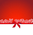 Happy Birthday greeting card with gift bow vector image vector image
