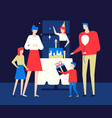 happy birthday party - flat design style vector image vector image
