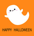 happy halloween flying ghost spirit boo scary vector image vector image