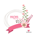 Happy Mothers Day Floral bouquets with ribbon vector image vector image